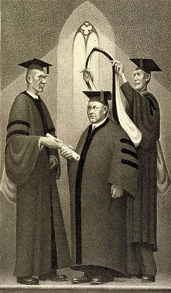 Honorary Degree, 1938 - Grant Wood