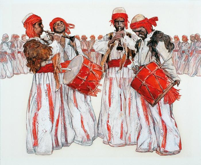"Illustration to the poem Gevorg Emin's ""Sasun Dance""., 1975 - Grigor Khanjyan"