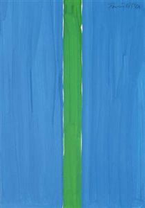 Composition bleue et verte - Гюнтер Форг