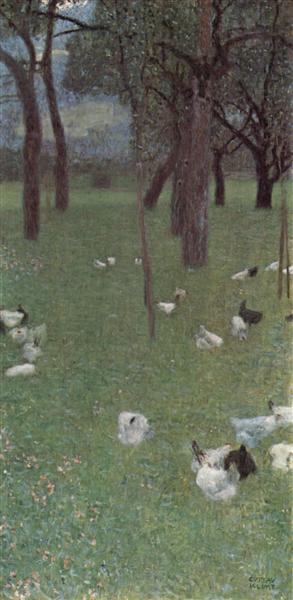 After the Rain (Garden with Chickens in St. Agatha), 1899 - Gustav Klimt