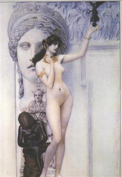 Allegory of Sculpture, 1889 - Густав Климт