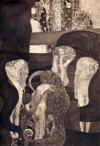 Jurisprudence (final state), 1903 - 1907 - Gustav Klimt