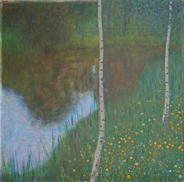 Lakeside with Birch Trees, 1901 - Gustav Klimt