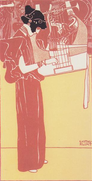Musik (lithograph), 1901 - Gustav Klimt