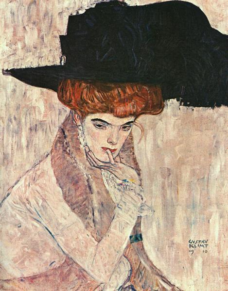 The Black Feather Hat, 1910 - Gustav Klimt
