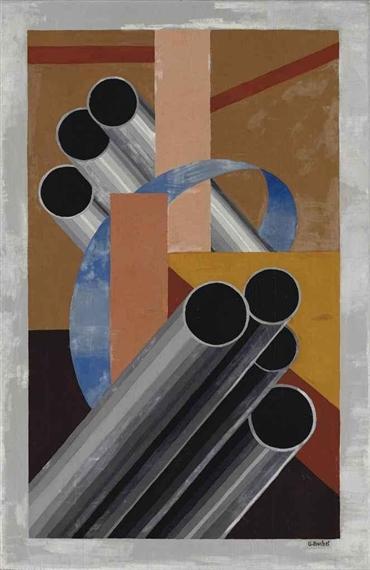 Composition avec 7 tubes, 1925 - Gustave Buchet