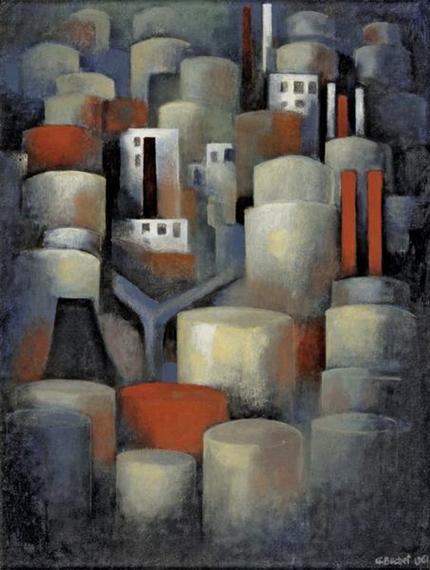 La raffinerie de pétrole, 1961 - Gustave Buchet
