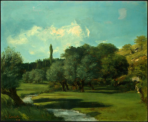 La Bretonnerie in the Department of Indre, 1856 - Gustave Courbet