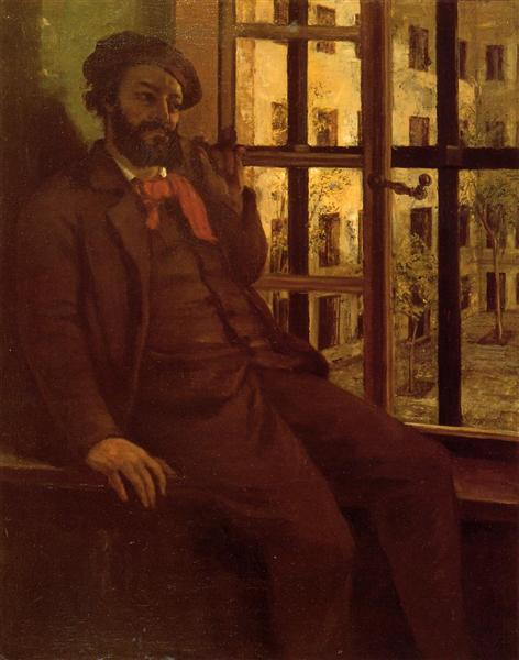 Self-Portrait at Sainte Pelagie, 1872 - 1873 - Gustave Courbet