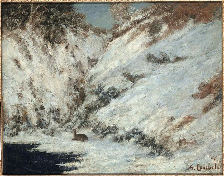 Snow Landscape in Jura, 1866 - Gustave Courbet