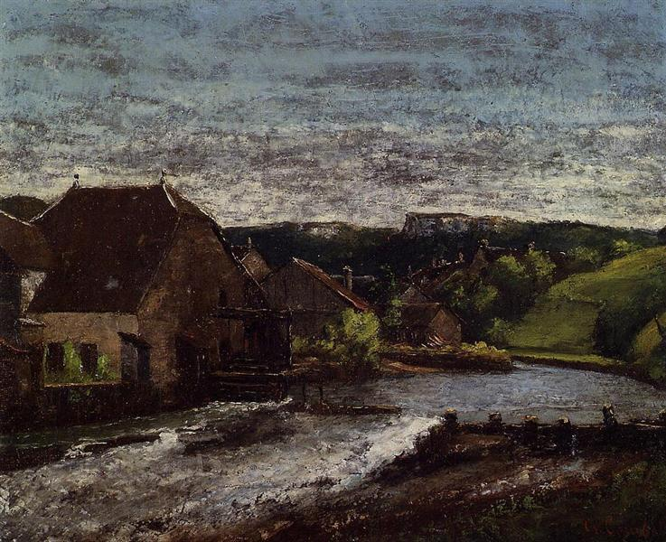 The Loue Valley, c.1872 - Gustave Courbet