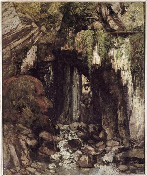 The Giants Cave from Saillon (Switzerland), 1873 - Gustave Courbet