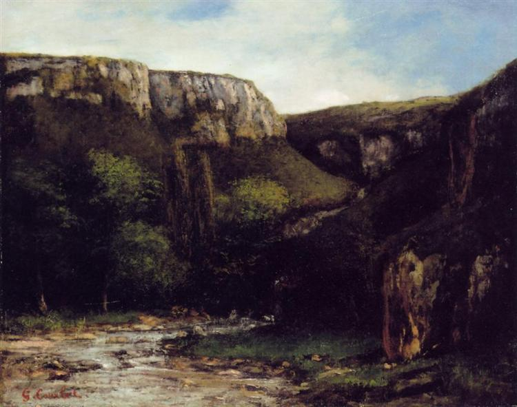 The Gorge - Gustave Courbet
