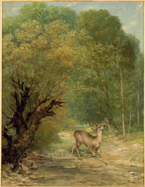 The Hunted Deer, Spring, 1867 - Gustave Courbet