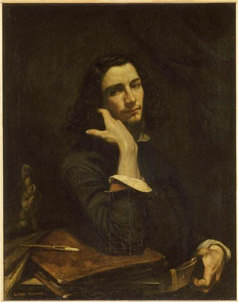 The Man with the Leather Belt, a Portrait of the Artist - Gustave Courbet
