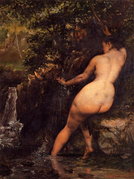 The Source (Bather at the Source), 1868 - Gustave Courbet