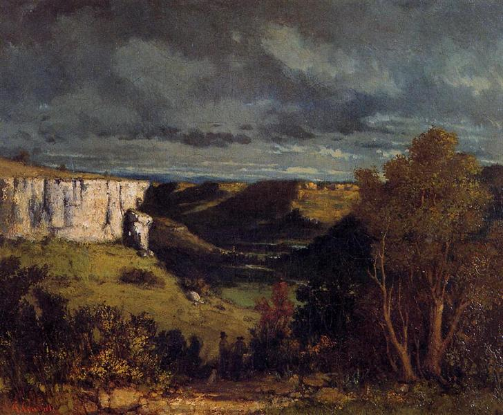The Valley of the Loue in Stormy Weather, 1849 - Gustave Courbet