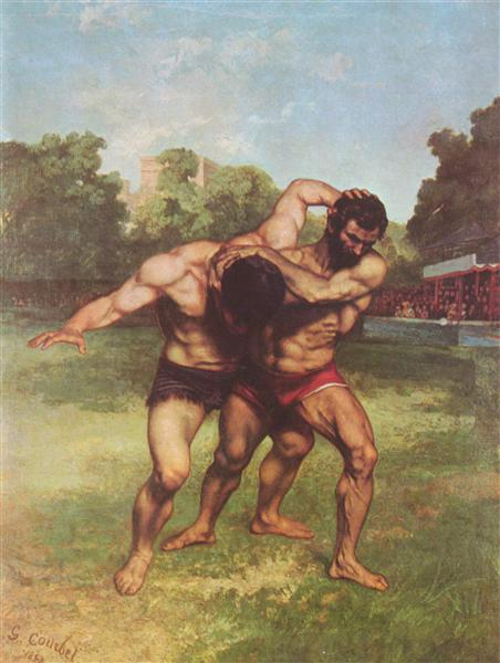 The Wrestlers, 1852 - 1853 - Gustave Courbet