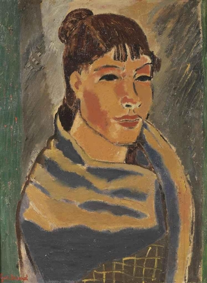Girl with blue scarf, 1931 - Gustave de Smet