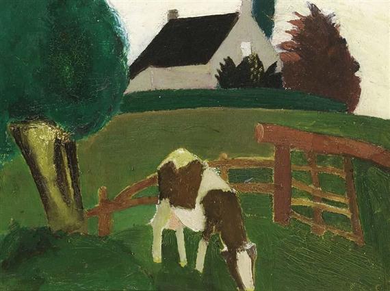 Grazing Cow, 1935 - Густав де Смет