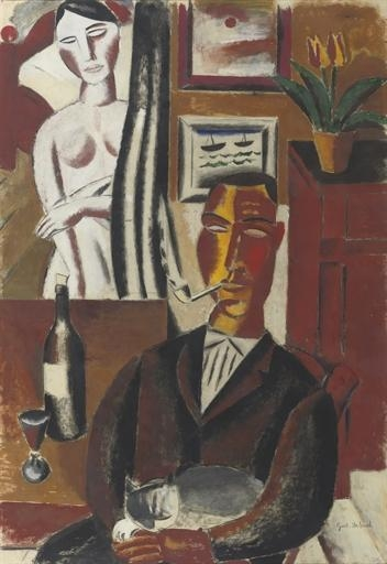 The Man with the Bottle, 1920 - Густав де Смет