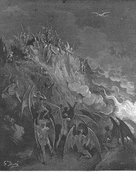 And now expecting Each hour their great adventurer, from the search Of foreign worlds - Gustave Dore