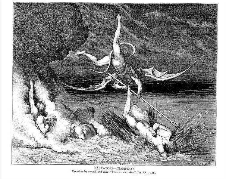 Barrators--Giampolo - Gustave Dore