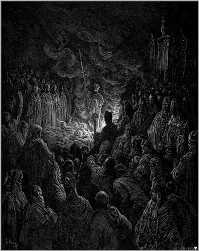 Barthelemi undergoing the Ordeal of Fire - Gustave Dore