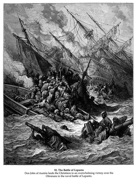 Battle of Lepanto in 1571 - Gustave Dore