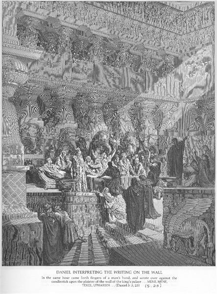 Daniel Interpreting the Writing on the Wall, 1866 - Gustave Dore
