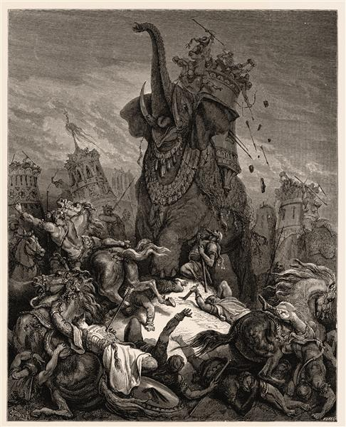 Death of Eleazer - Gustave Dore
