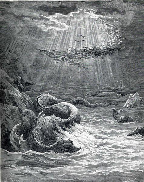 The Creation of Fish and Birds, c.1868 - Gustave Dore