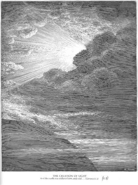 The Creation of Light, 1866 - Gustave Dore