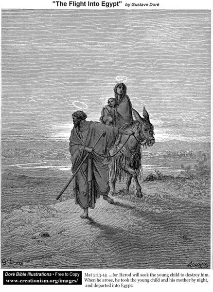 The Flight Into Egypt - Gustave Dore