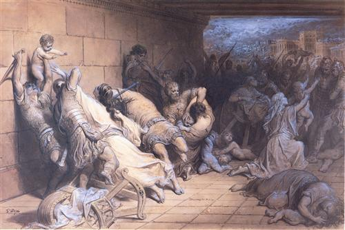 The Martyrdom of the Holy Innocents - Gustave Dore