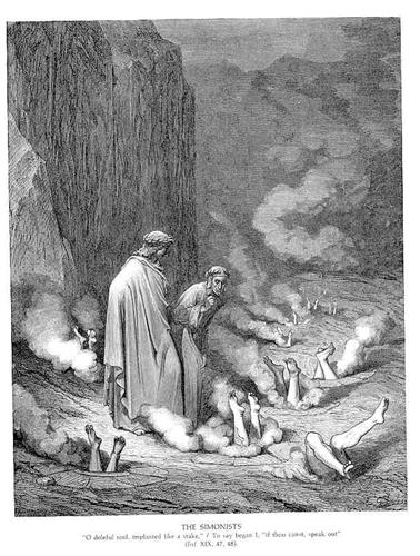 The Punishment of the Simonists - Gustave Dore