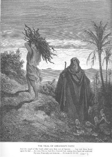The Testing of Abraham's Faith - Gustave Dore