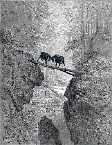 The Two Goats - Gustave Dore