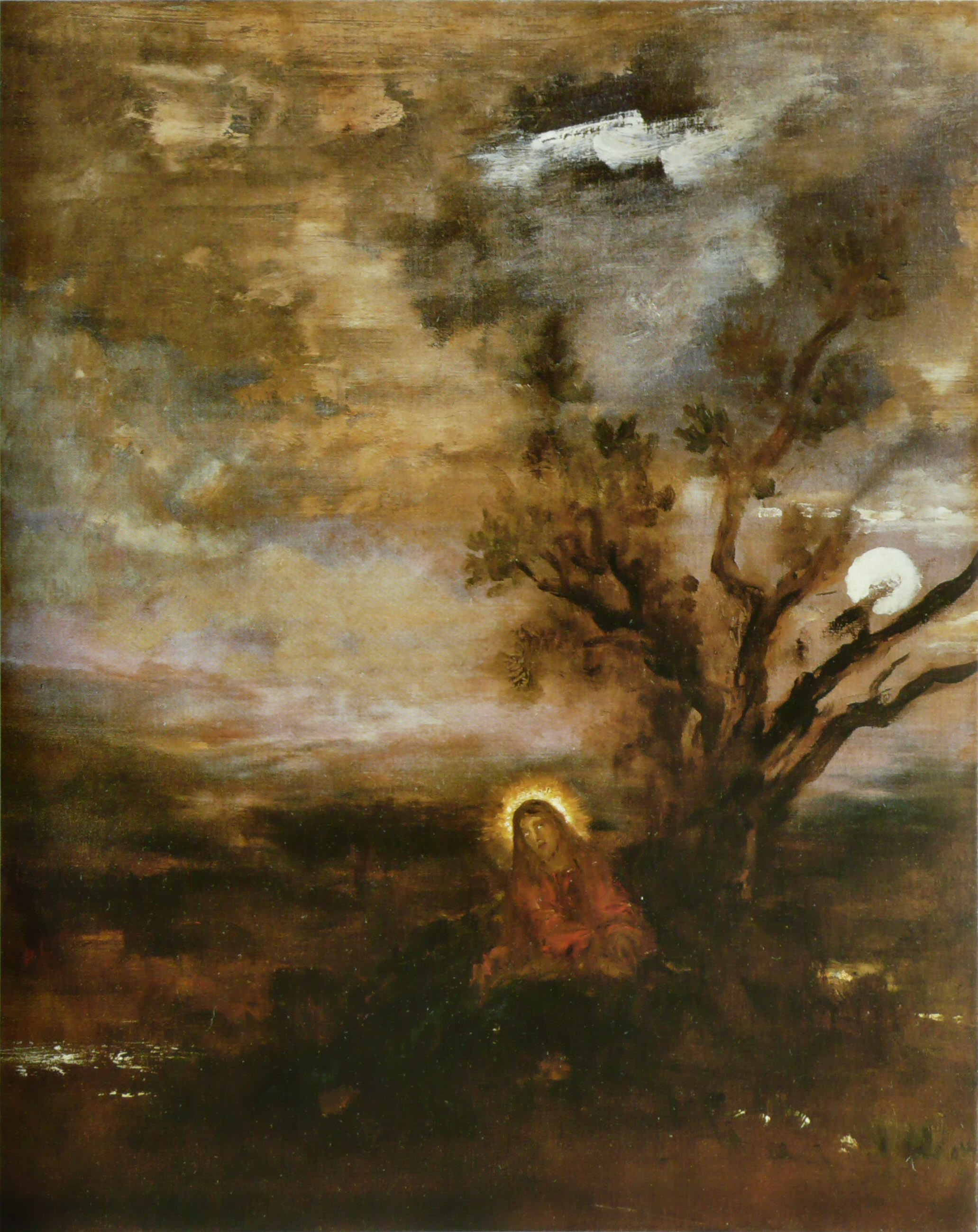 Christ In The Garden C 1880 Gustave Moreau Wikiart Org