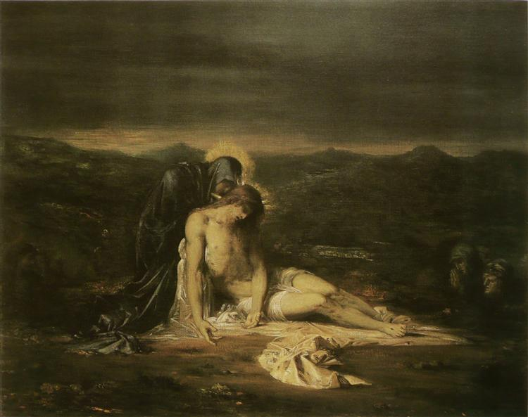 Pieta, 1854 - Gustave Moreau