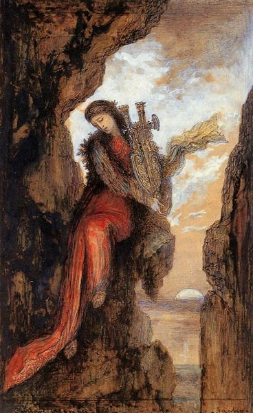 Sappho on the Cliff, c.1872 - Gustave Moreau
