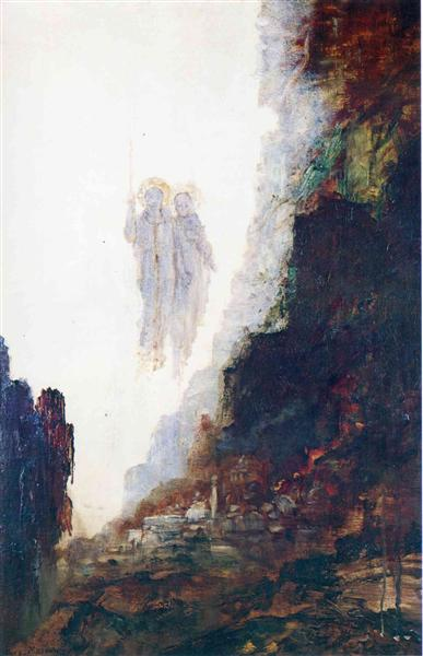 The Angels of Sodom, c.1890 - Gustave Moreau