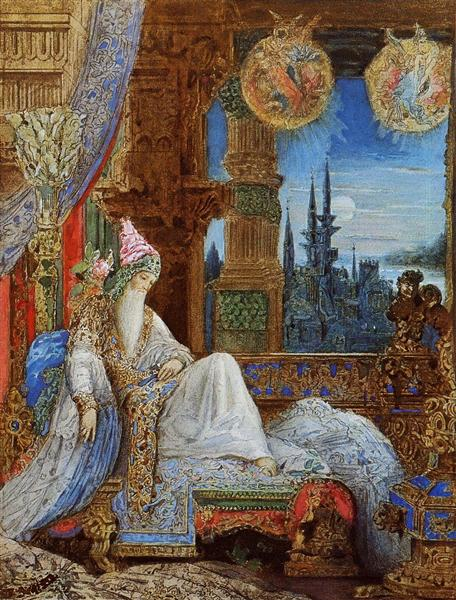 The Dream Haunting the Mogul, c.1881 - Gustave Moreau