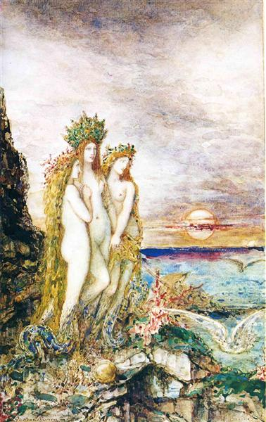 The Sirens, c.1872 - Gustave Moreau