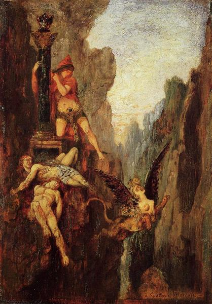 The Sphinx Defeated, c.1878 - Gustave Moreau