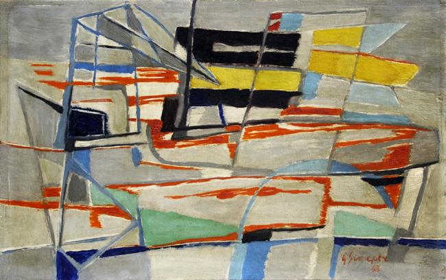 Cargo suédois au Radoub, 1948 - Gustave Singier