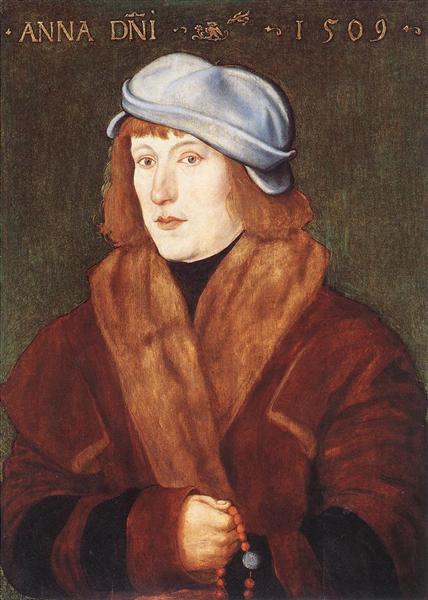Portrait Of A Young man, 1509 - Hans Baldung