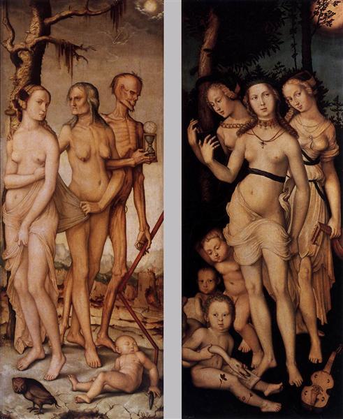Three Ages of Man and Three Graces, 1539 - Hans Baldung