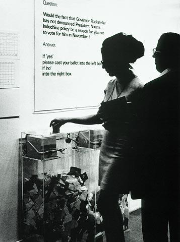 MoMA Poll, 1970 - Hans Haacke