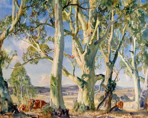 On The Edge Of The Bush - Hans Heysen